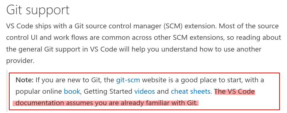 vscode prior knowledge disclaimer with links